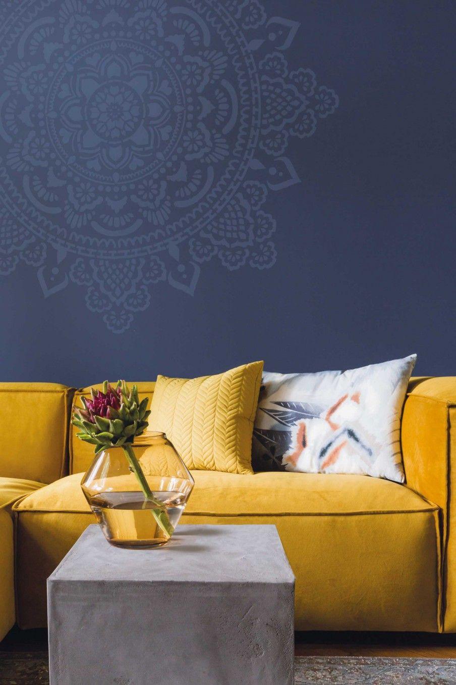 Woonkamer Geel Blauw