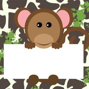 printable jungle birthday card