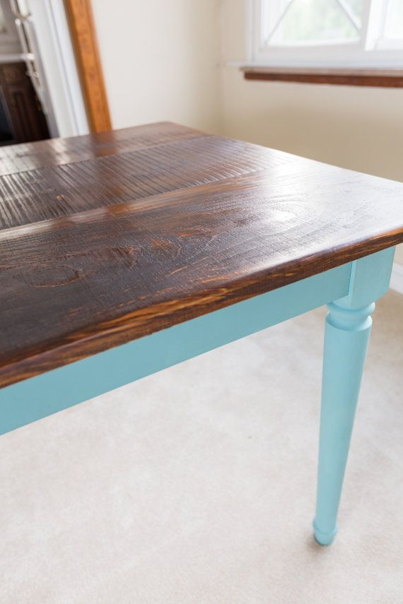 provence blue farm dining table rustic kitchen table solid pine wood provence legs u0026
