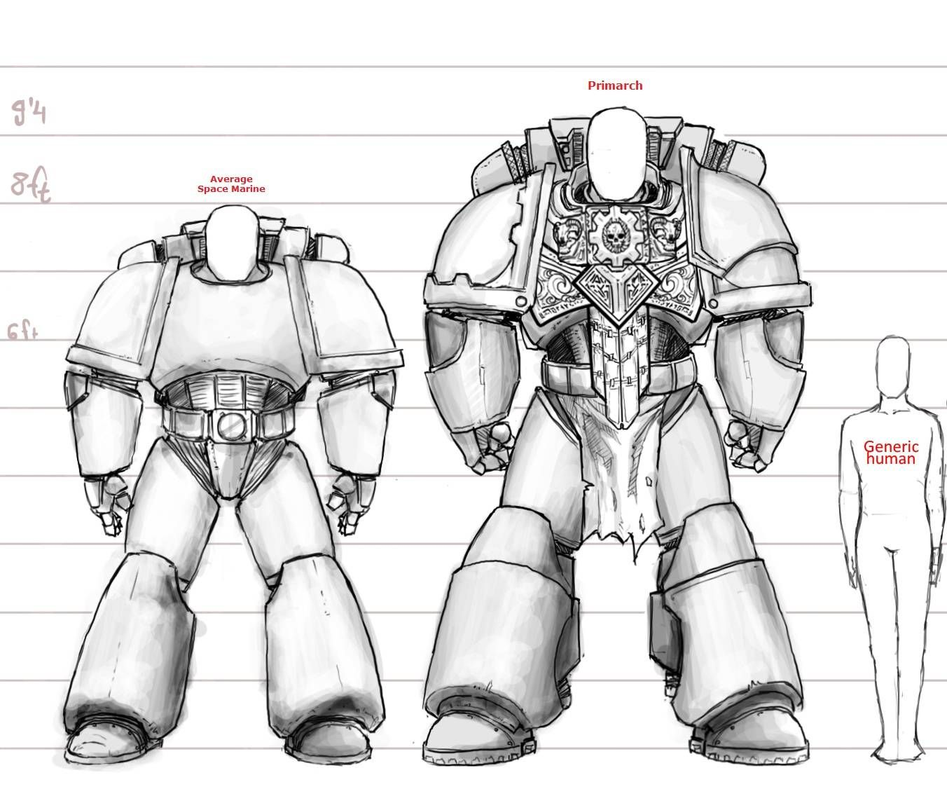 Human And Space Marine Size Chart
