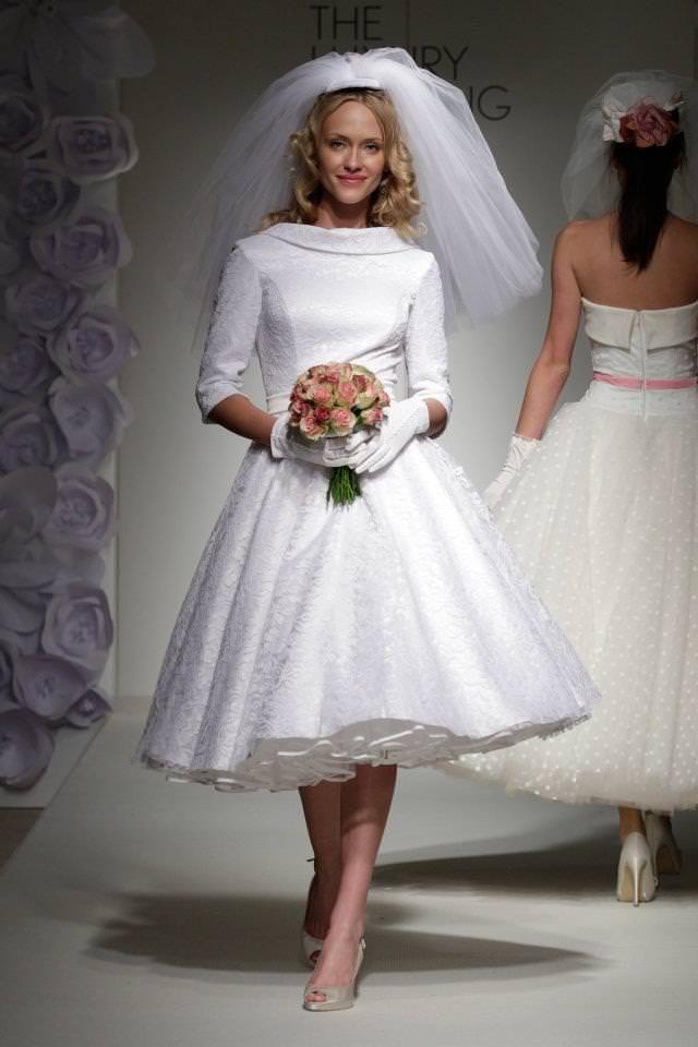 Classic 50s style wedding dress