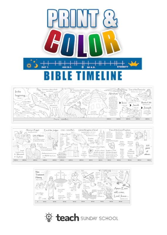 graphic regarding Free Printable Bible Timeline called Printable Bible Timeline Young children Can Coloration Demonstrate. Fantastic for