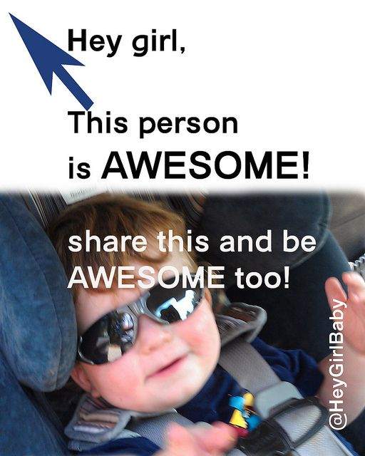Awesome you. Cute image to share in Facebook that makes you AWESOME!