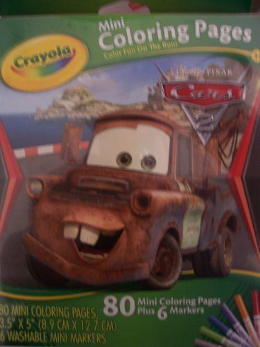 Diseny Cars 2 Mini Coloring Pages (Tow Mater Cover) by Crayola - best of crayola mini coloring pages cars
