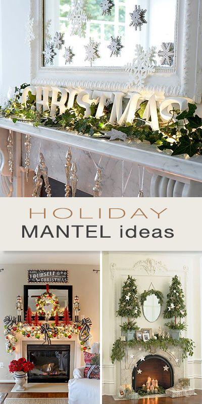 6 Weeks of Holiday DIY  Week 5 - Holiday Mantel Ideas Mantel