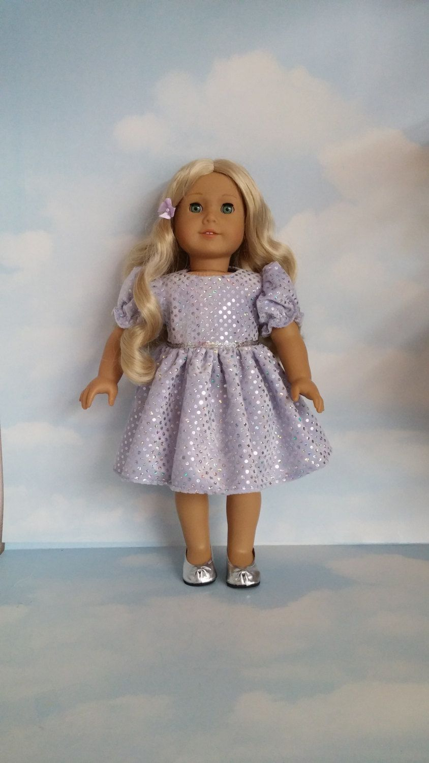 inch doll clothes lilac sequin dress handmade to fit the