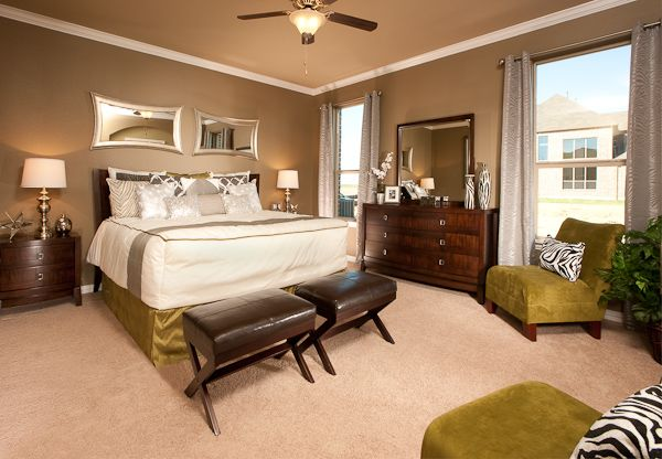 Master Bedroom - Artesia Abalaster : Brookstone Collection. This gorgeous new home is available in the Artesia community in Prosper, TX. Artesia offers small-town living with big-city conveniences by being located only 2 miles west of the Dallas North Tollway along U.S. Highway 380. Community has a welcoming entrance leading to an activities center that includes a pool with a splash park, common areas, and playgrounds.