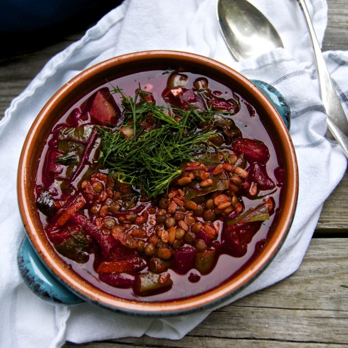 Nourishing Lentil Borscht