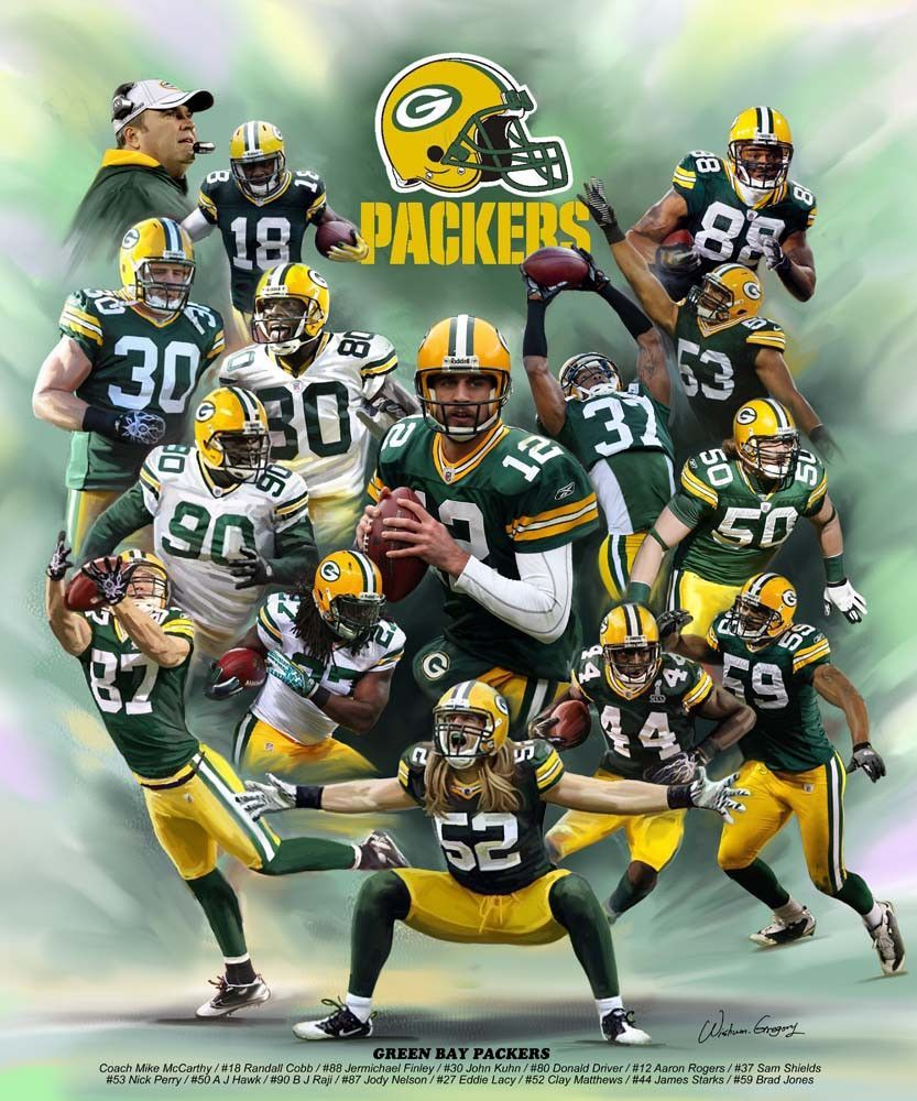 Green Bay Packers 2013 Version By Wishum Gregory Green Bay Packers Wallpaper Green Bay Packers Players Packers
