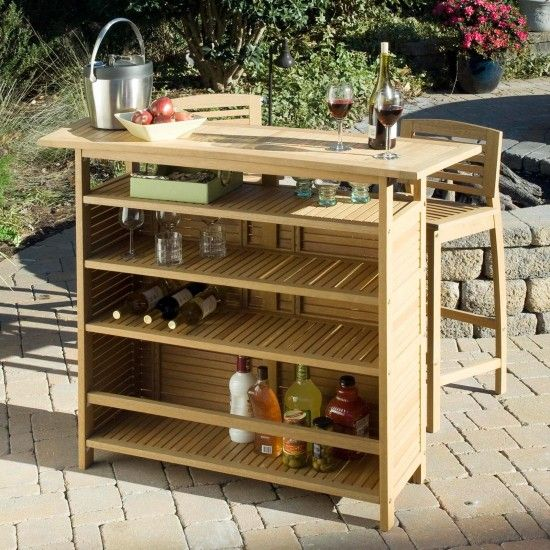 Create An Island Oasis In Your Own Backyard With Our Bali Hai Outdoor Bar Cabinet