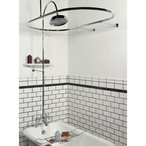 Sheffield Deck Mount Hotel-Style Shower Conversion Kit - Bathroom ...