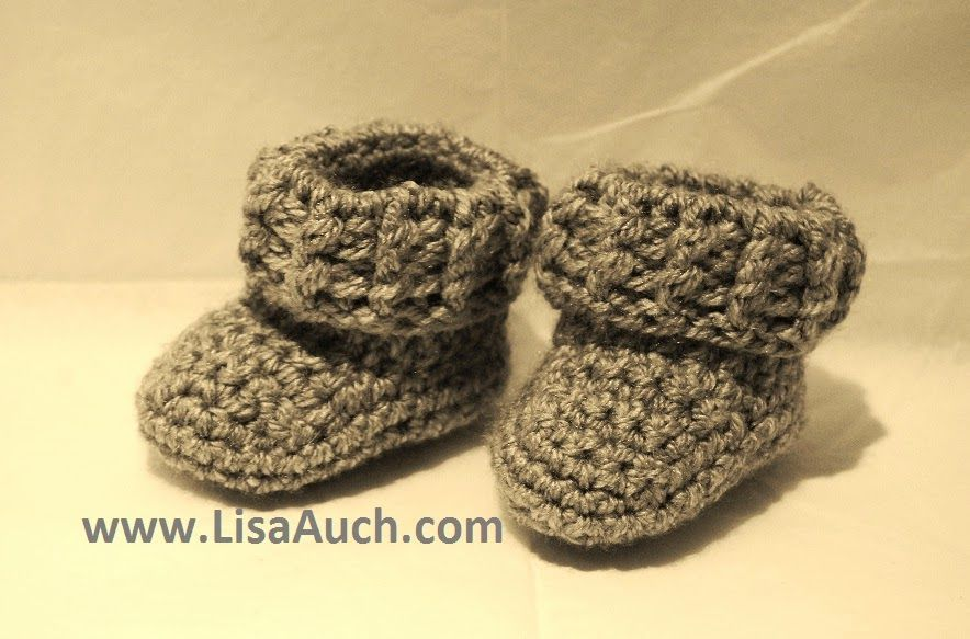 Booties for Baby - Free crochet pattern for Baby Booties (Boy ...