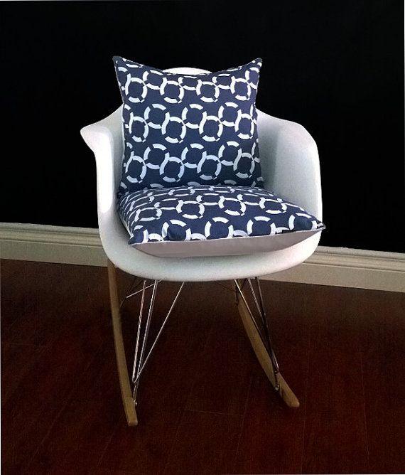 Eames Chair Cushion Cover, Nautical Blue White Lifesavers By  RockinCushions, $44.00. If You