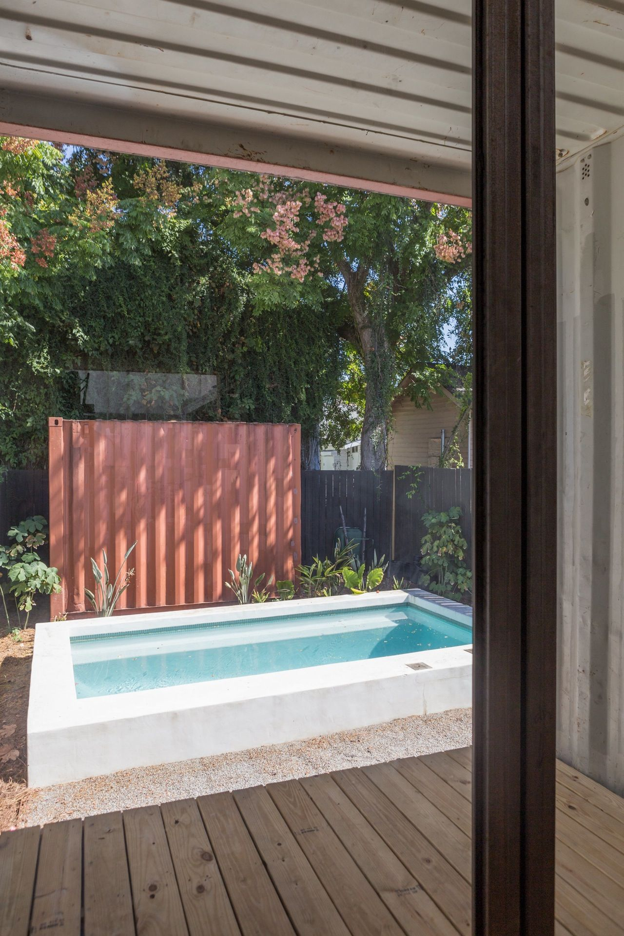 Tour A Cool Shipping Container Home In New Orleans Backyard Deck