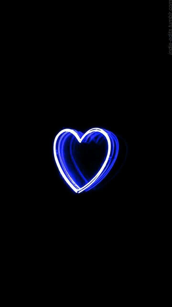 Pin By Feren Indri On Artwork Hearts Blue Aesthetic Neon Wallpaper Blue Aesthetic Pastel Aesthetic wallpaper blue heart