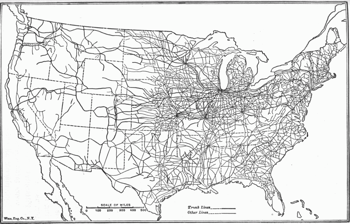 Large Usa Road Map