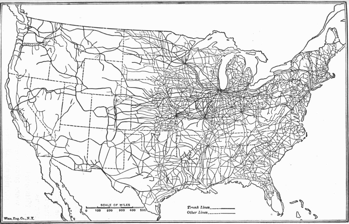 Large Usa Road Map