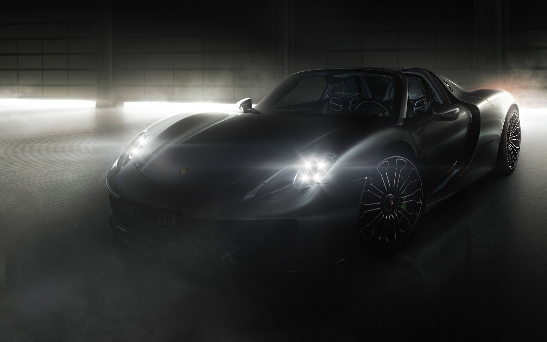 2015 porsche 918 spyder black wallpapers hd httpcarwallspapercom - Porsche 918 Spyder Wallpaper