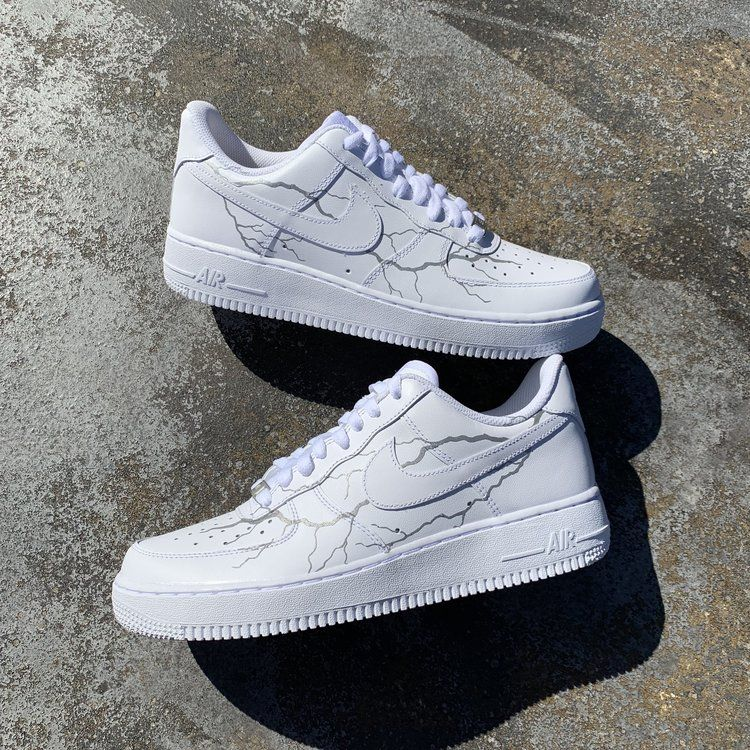 3M Lightning Air Force 1 Custom | Girls shoes, Sneakers
