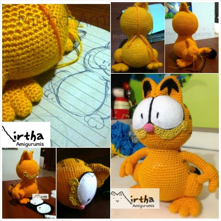 Amigurumi Garfield by MirthaAmigurumis.deviantart.com on @deviantART #crochet #geek