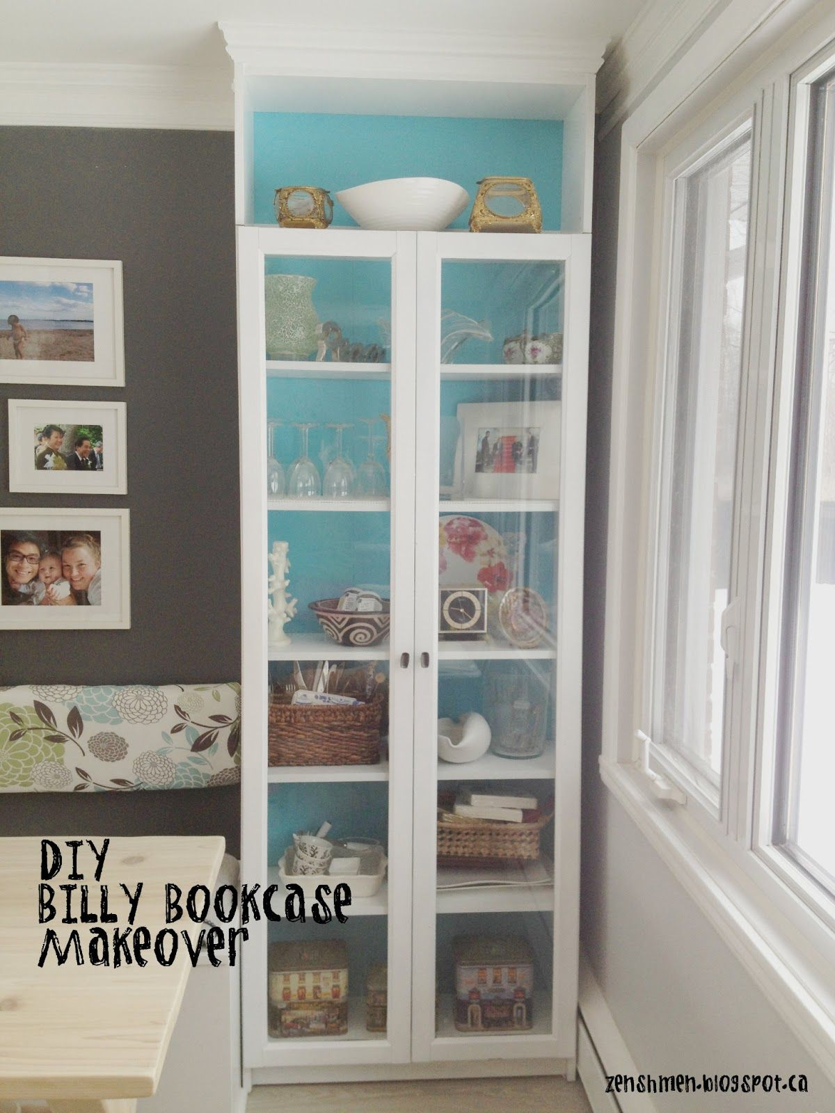 diy+bookshelves | diy billy bookcase makeover | home office