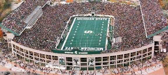 Where The On Field Magic Happens The Spartans Enjoy The Support Of Not Only Michigan State Football Michigan State University Football East Lansing Michigan