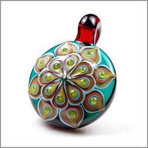 Dustin Tabor peacock mandala pendant