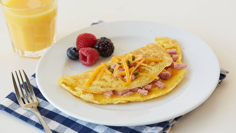 Folded ham and cheddar omelette recipe in 2020