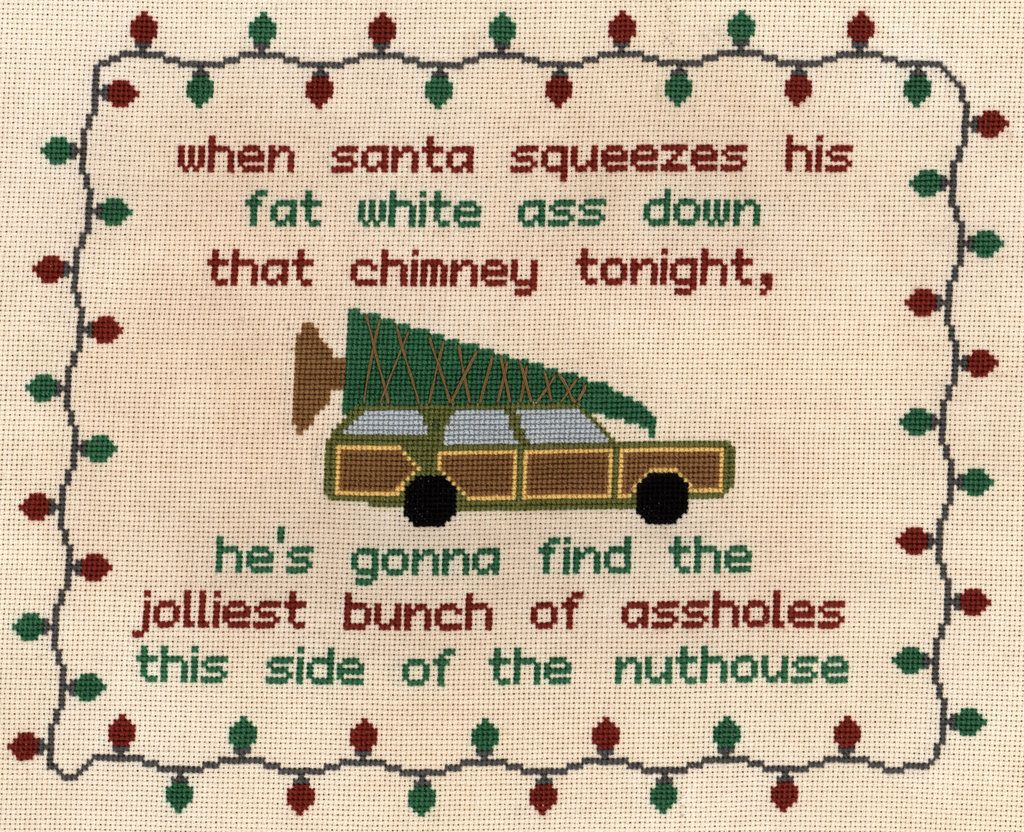 Christmas Vacation Quotation Cross Stitch By Deltiologiantart On  @deviantart — Click