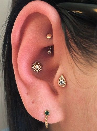 Conch Piercing Boho Piercing No Tragus Brinco De Cartilagem Piercings Corporais