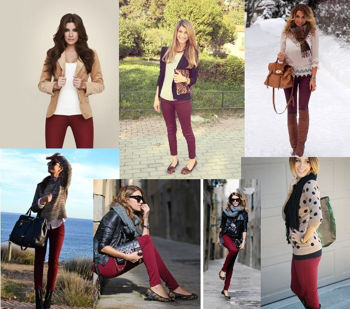 Burgundy pants outfit ideas