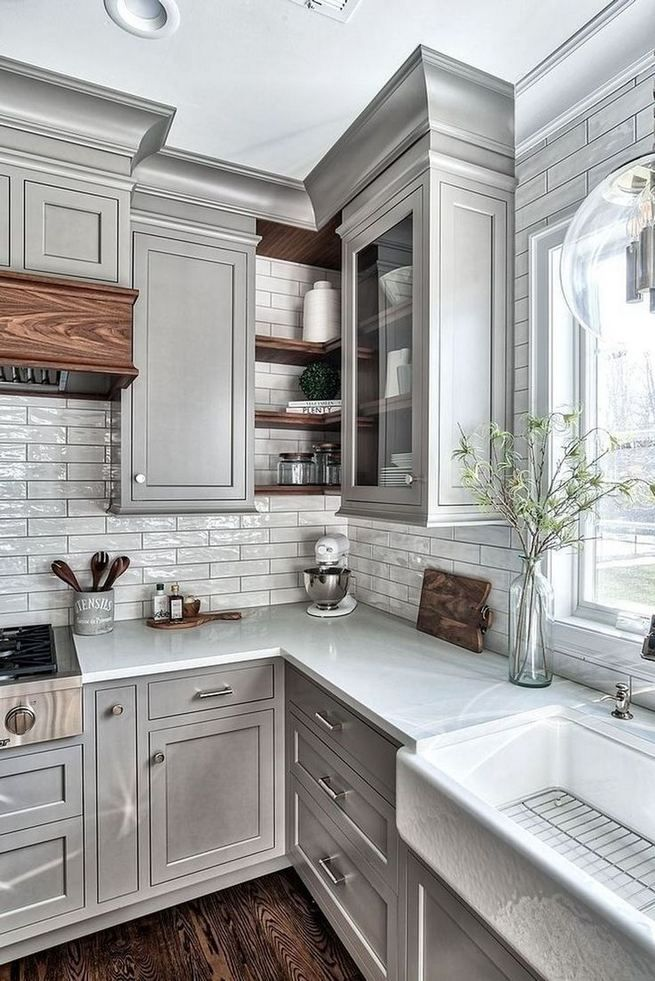 13+ Elegant Grey Kitchen Backsplash Ideas Inspiration