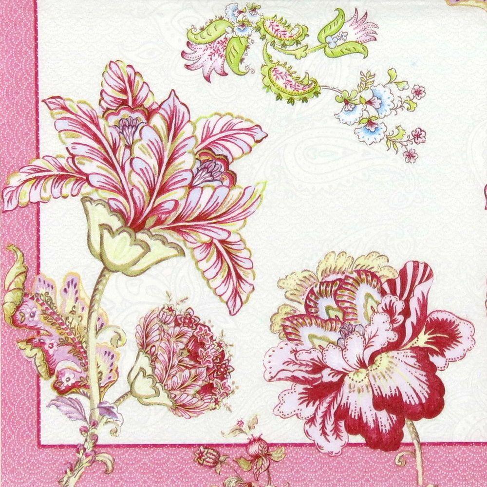 4x serviettes en papier pour découpage DECOPATCH Vintage Paisley