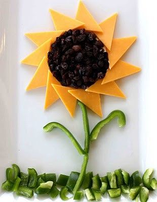 sunflower - cheese, raisins, peppers (2 of those are favorites in our house!)