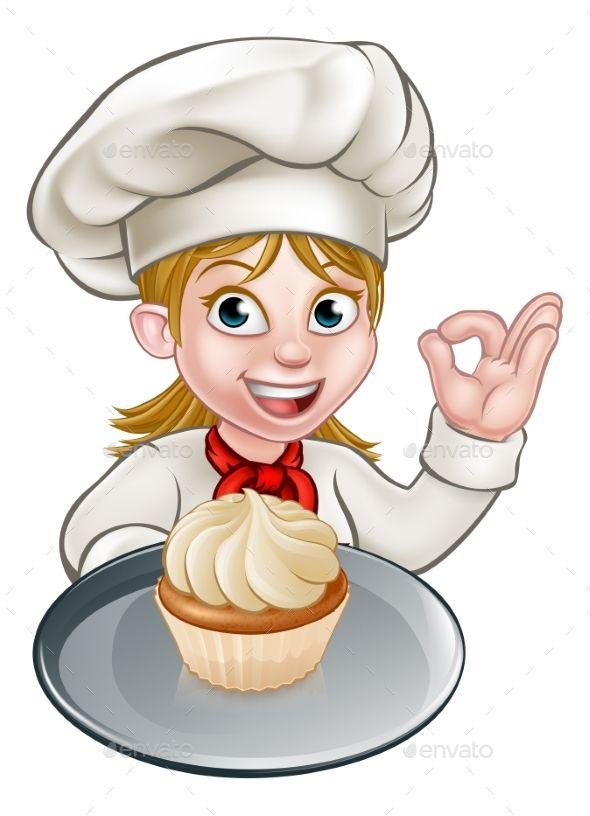 Woman Chef Or Baker Cartoon By Krisdog A Woman Chef Or