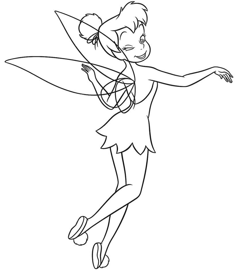 Tinkerbell coloring pages | Tinkerbell coloring pages ...