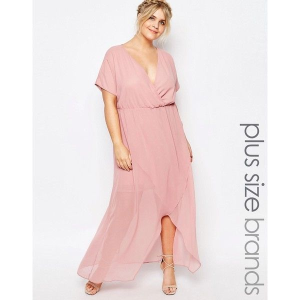 Truly You Wrap Maxi Dress With Ruffle Detail ($40) ❤ liked on ...
