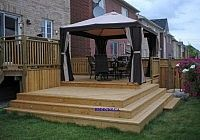 Love the different levels with the added gazebo