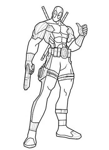 Deadpool Coloring Pages sketch template | Dessins | Pinterest ...