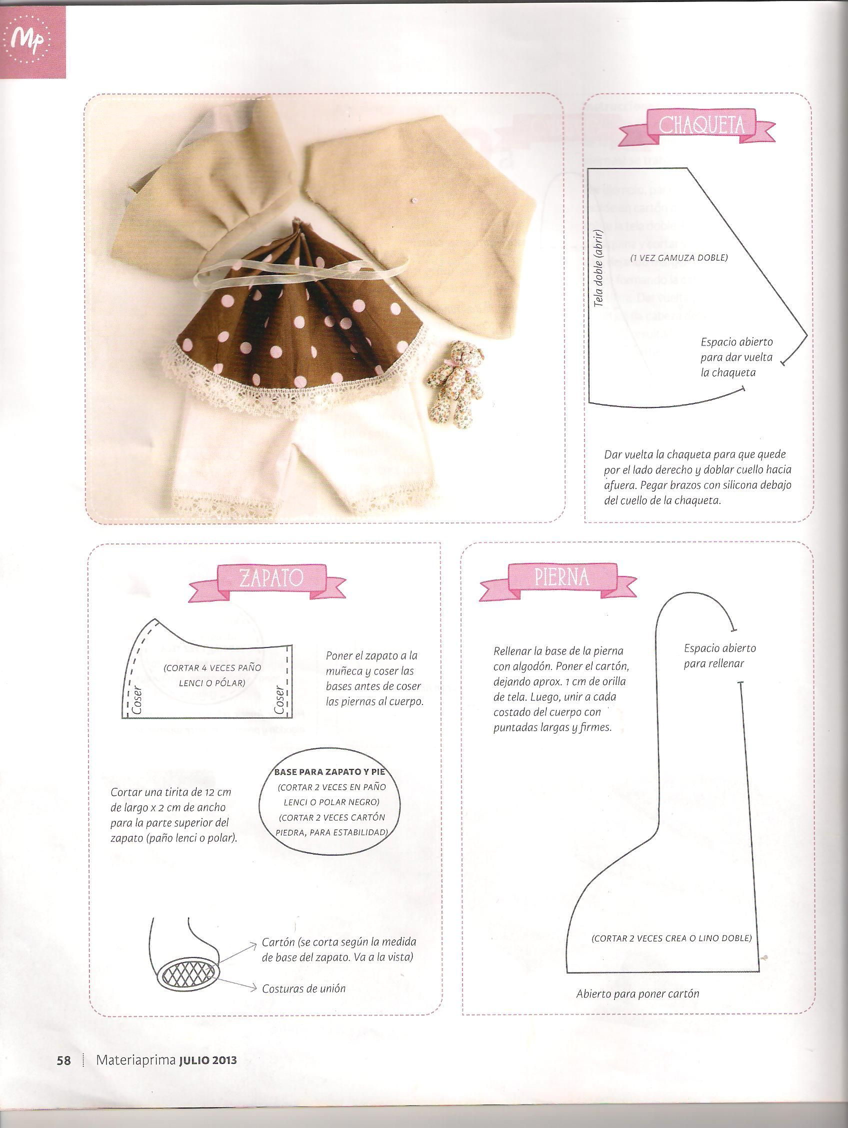 molde de muñeca country #1 (tercera parte ) | cloth dolls ...