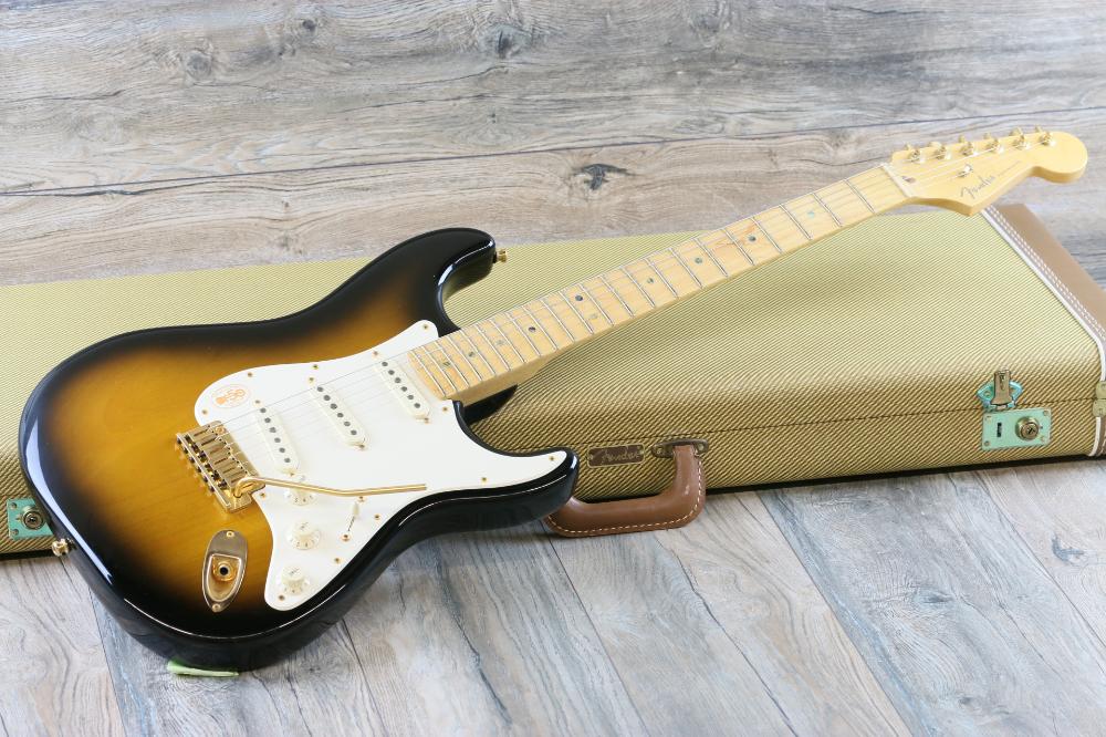 Minty 50th Anniversary American Series Fender Stratocaster 2 Color Sunburst Ohsc Lovies Guitars Fender Stratocaster Fender American 50th Anniversary