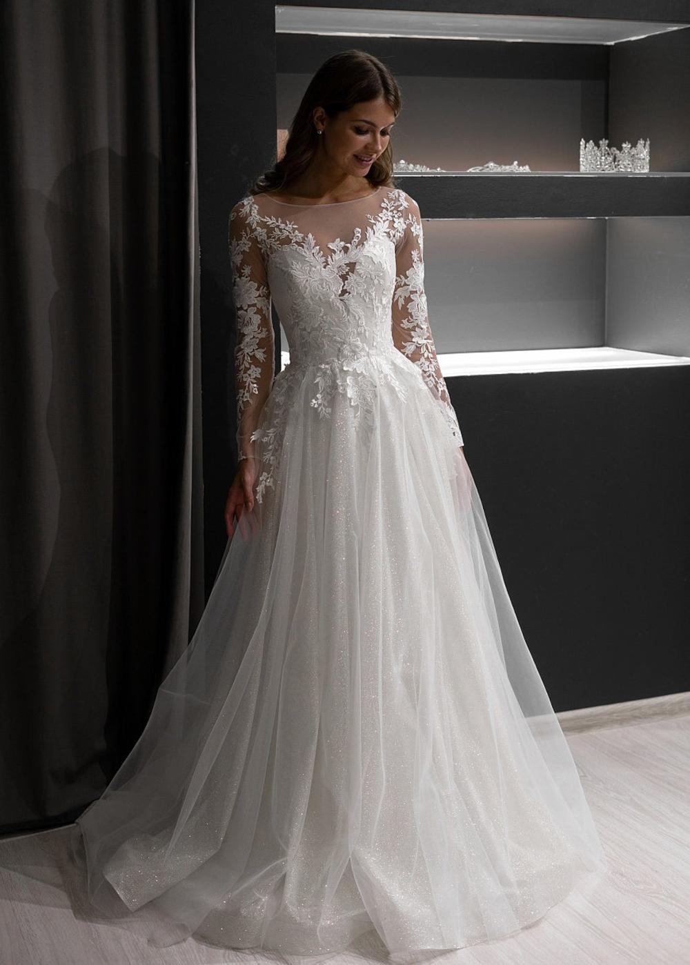 Ivanel By Olivia Bottega Open Back Sequined Wedding Gown Wedding Dress Open Back Dress Floral Lace Dress In 2021 Online Wedding Dress Wedding Dresses Wedding Dress Long Sleeve [ 1399 x 1000 Pixel ]
