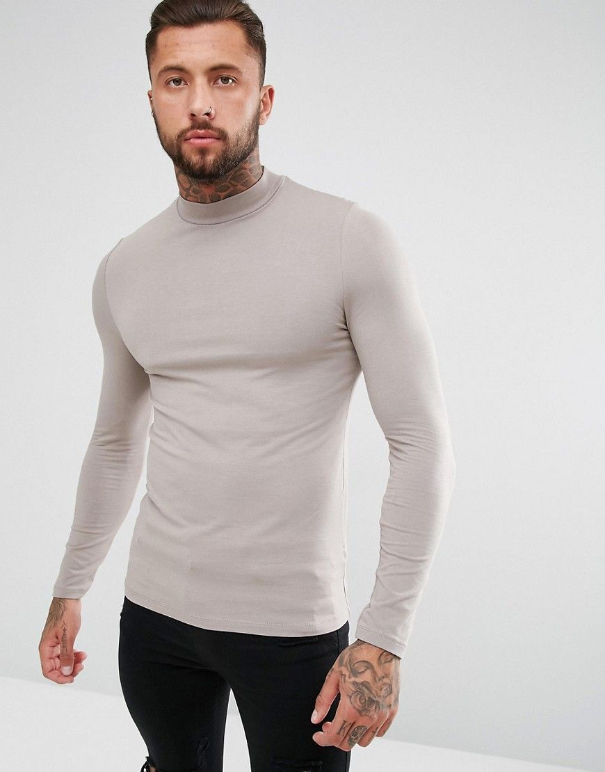 2ea6ad45c6d0 Get this Asos's turtleneck t-shirt now! Click for more details. Worldwide  shipping