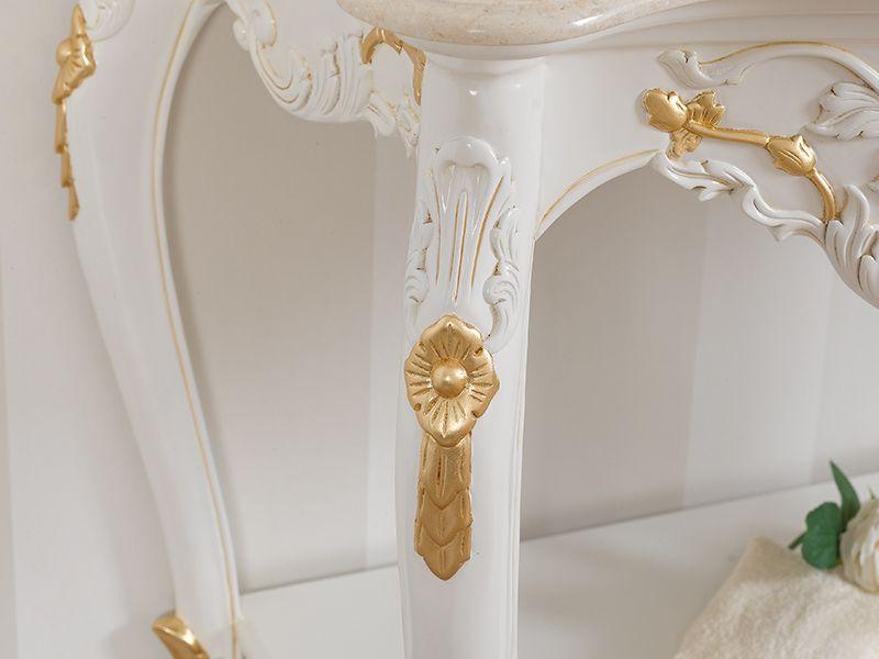 Bagno Bombato ~ Mobile bagno stile barocco colore noce e crema arredo bagno