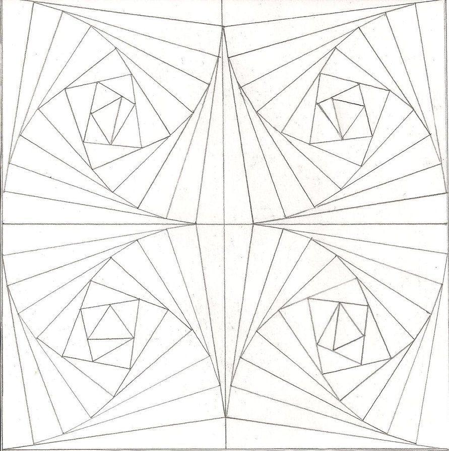 optical illusion coloring pages - Google Search | Siyah beyaz ...
