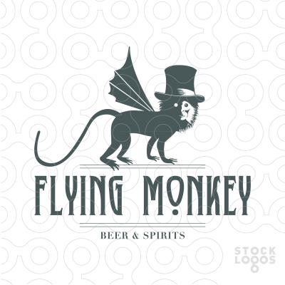 Flying monkey beer spirits logo design inspiration business cards flying monkey beer spirits logo reheart Gallery