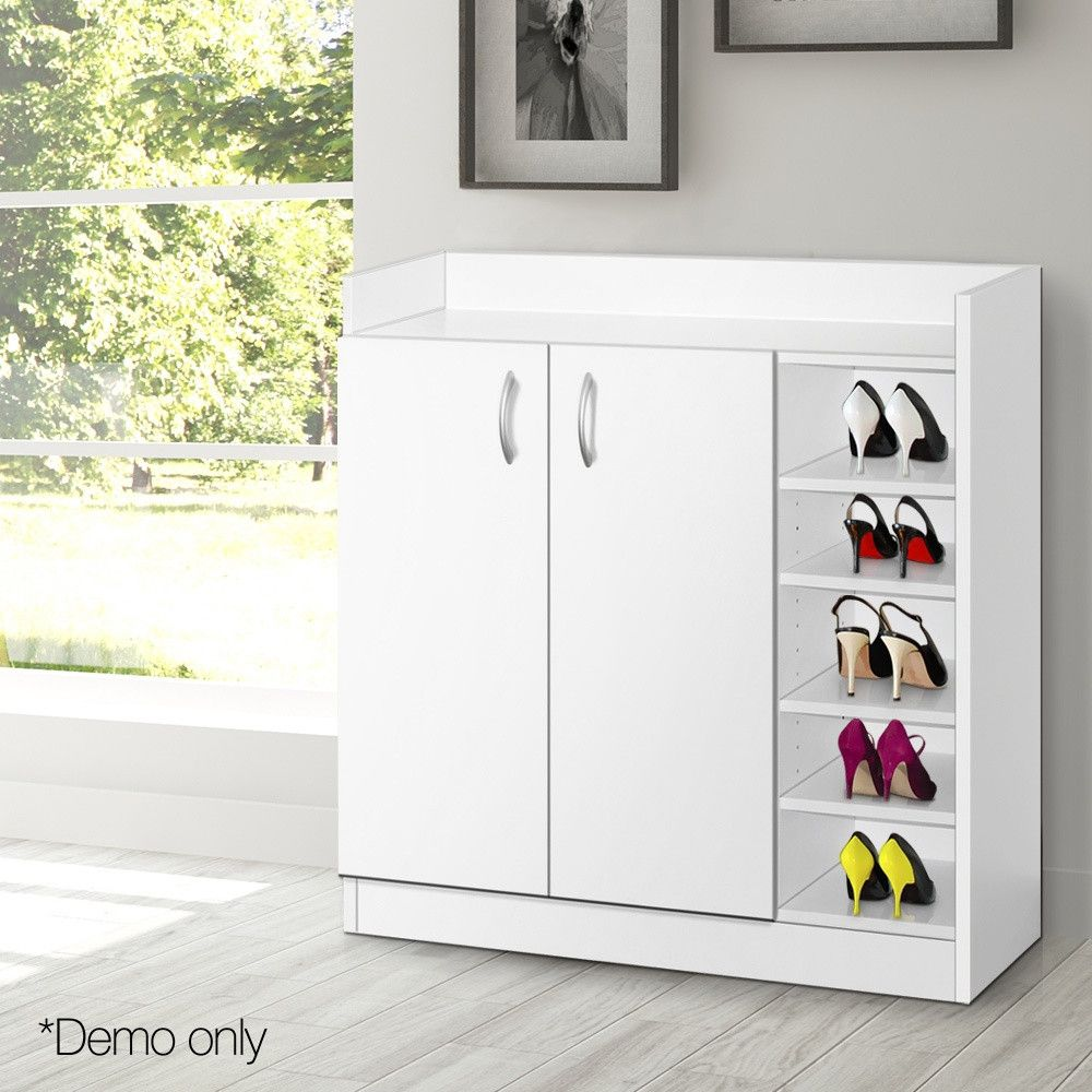 2 Doors Shoe Cabinet Storage Cupboard White Cupboard Storage Storage Cabinets Wooden Shoe Cabinet