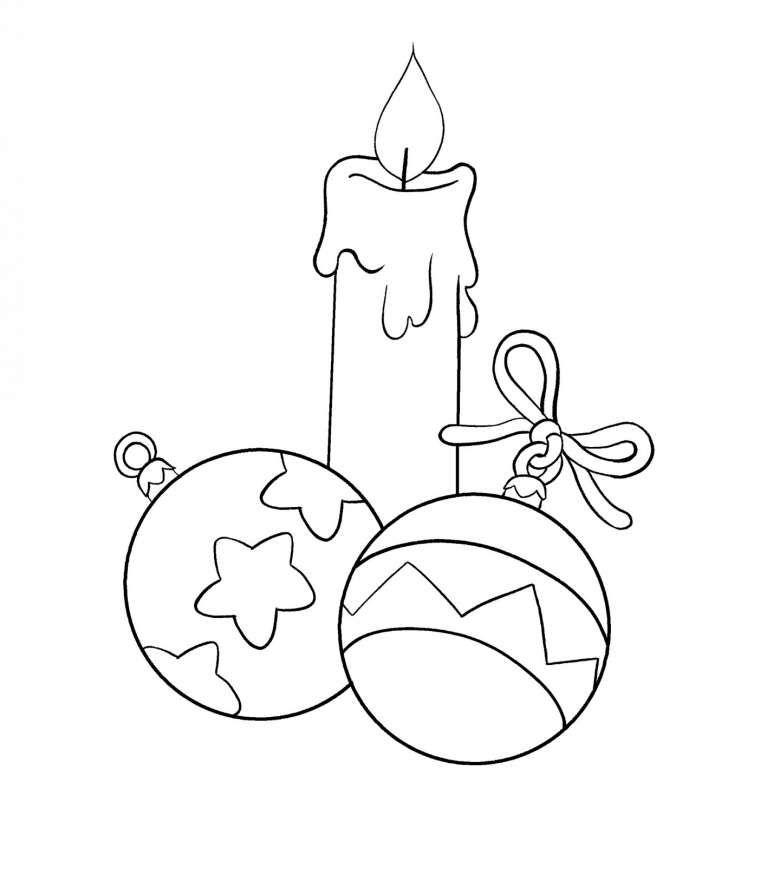 Candele Natalizie Da Colorare Per Bambini.Addobbi Di Natale Da Stampare E Colorare Foto Mamma Pourfemme Natale Colori Di Natale Idee Natale Fai Da Te