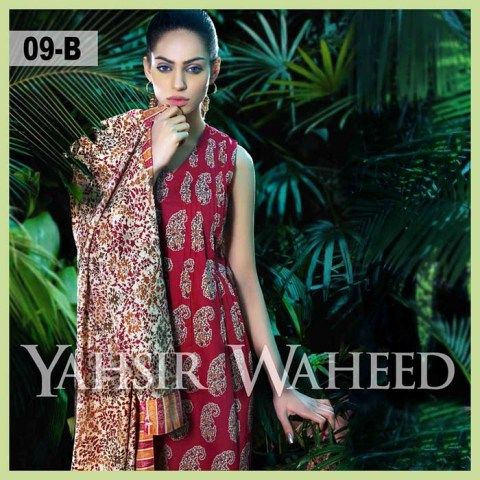 Yahsir Waheed Lawn Dresses 2015 for Spring Summer (3)