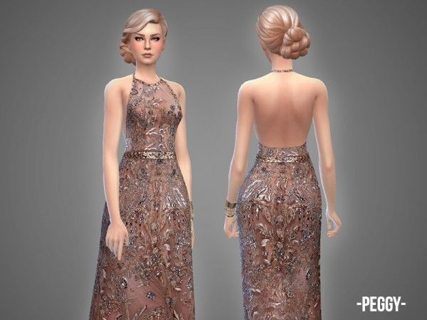 The sims resource sims 4 wedding dress